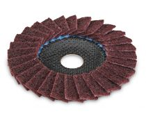 Flex SC-VL polishing flap wheel for metal and stainless steel 125mm Medium grit Cambered - 358.606